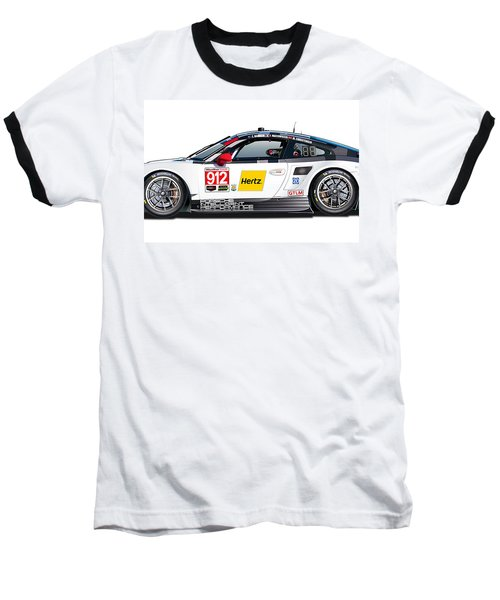 Porsche 911 Gtlm Illustration Baseball T-Shirt