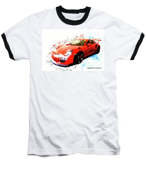 Porsche 911 Gts Baseball T-Shirt by Roger Lighterness