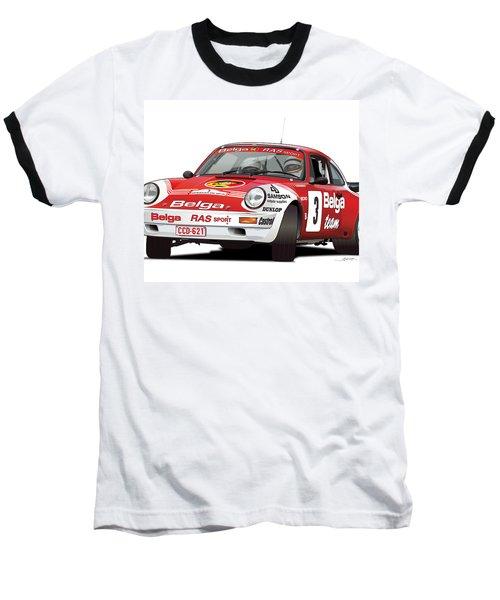 Porsche 911 Sc Rs Belga Team Baseball T-Shirt by Alain Jamar