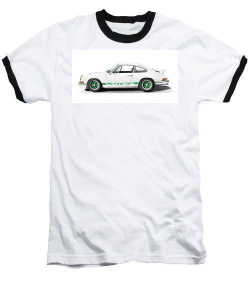 Porsche Carrera Rs Illustration Baseball T-Shirt by Alain Jamar