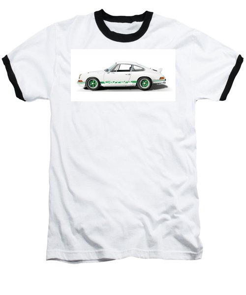 Porsche Carrera Rs Illustration Baseball T-Shirt