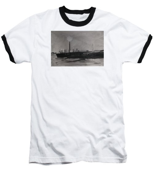 Port Talbot Steel Works Baseball T-Shirt