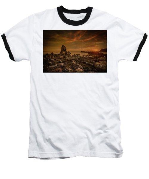 Porth Saint Beach At Sunset. Baseball T-Shirt
