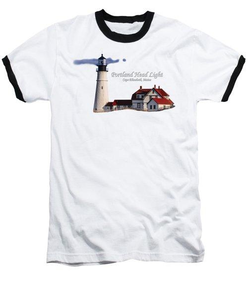Portland Head Light No. 43 Baseball T-Shirt