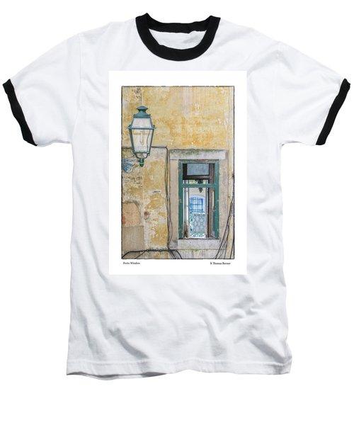 Porto Window Baseball T-Shirt by R Thomas Berner
