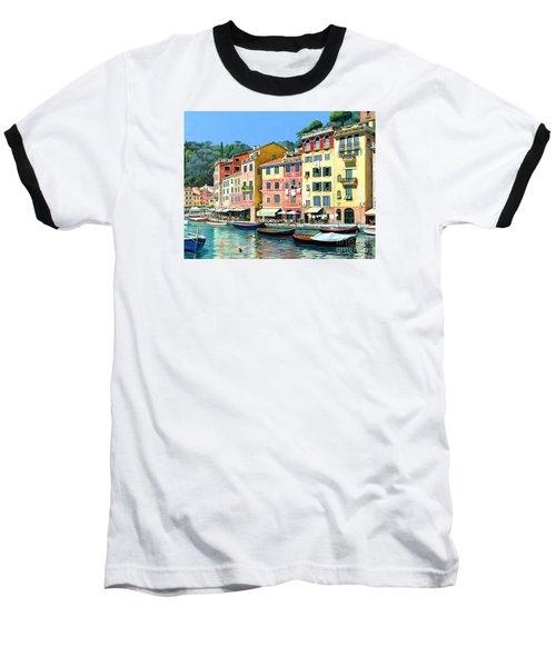 Baseball T-Shirt featuring the painting Portofino Sunshine 30 X 40 by Michael Swanson