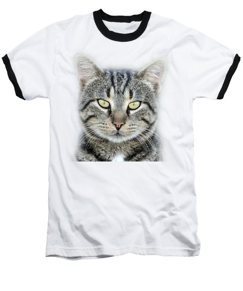 Baseball T-Shirt featuring the photograph Portrait Of A Cat by George Atsametakis