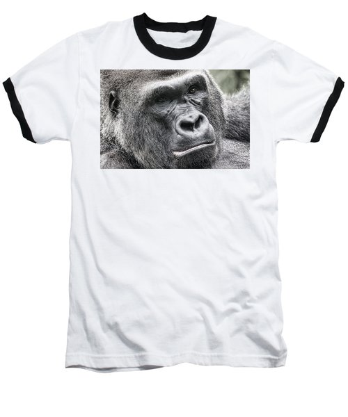 Portrait Of A Gorilla Baseball T-Shirt