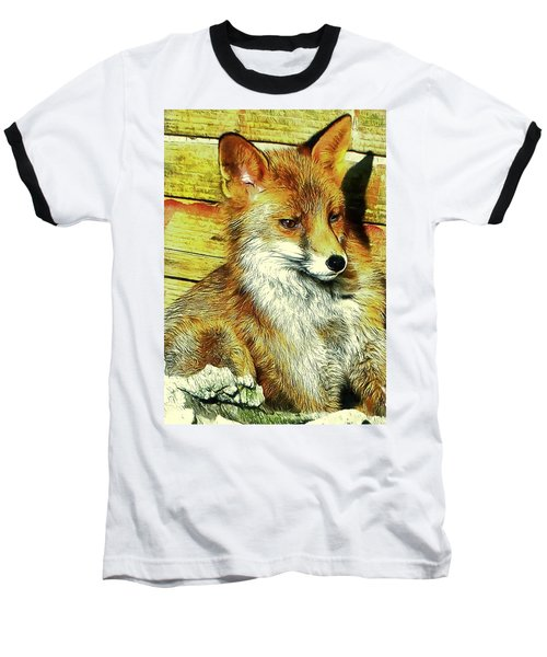 Portrait Of An Urban Fox Baseball T-Shirt