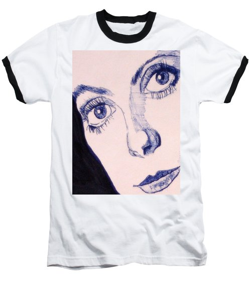 Portrait Of Catherine Close Up Details Baseball T-Shirt