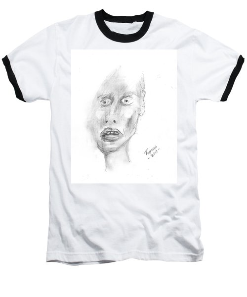 Portrait With Mechanical Pencil Baseball T-Shirt