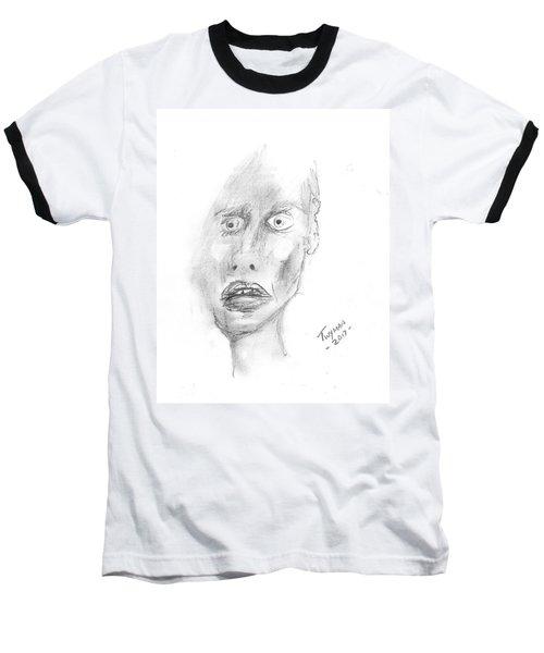 Portrait With Mechanical Pencil Baseball T-Shirt
