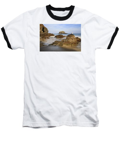 Portreath Baseball T-Shirt by Shirley Mitchell