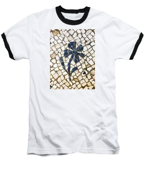 Portuguese Pavement With A Flower Detail Baseball T-Shirt