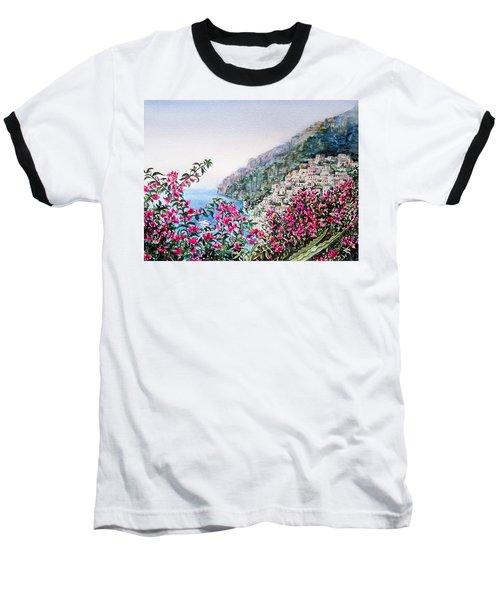 Positano Italy Baseball T-Shirt