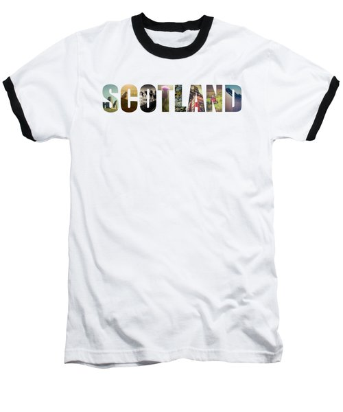 Postcard For Scotland Baseball T-Shirt by Mr Doomits