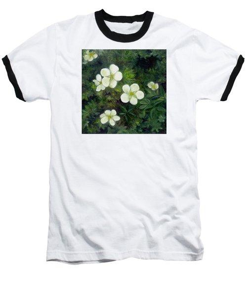 Potentilla Baseball T-Shirt by FT McKinstry