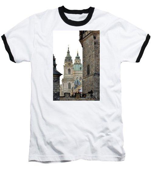 Baseball T-Shirt featuring the digital art Prague-architecture 3 by Leo Symon