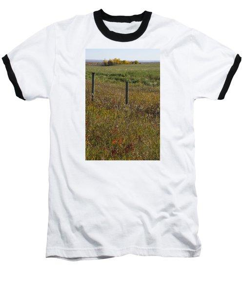Prairie Autumn Baseball T-Shirt by Ellery Russell