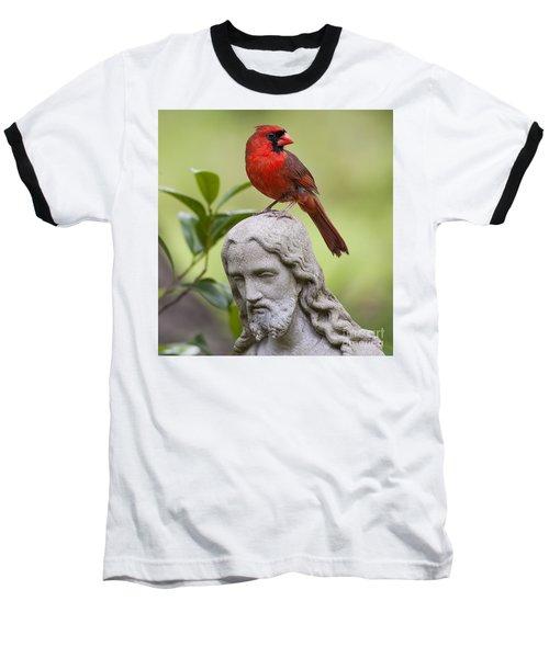 Praise The Lord Baseball T-Shirt by Bonnie Barry