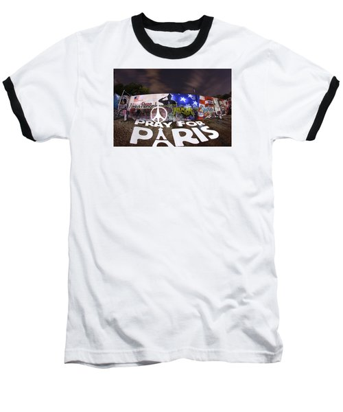 Pray For Paris Baseball T-Shirt