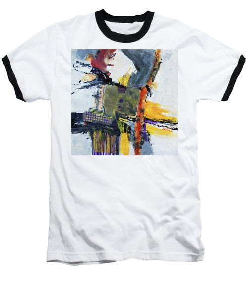 Precarious Baseball T-Shirt by Ron Stephens