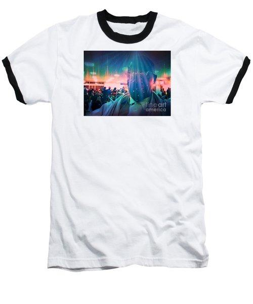 Presence Baseball T-Shirt by Fania Simon