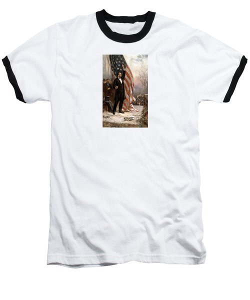 President Abraham Lincoln Giving A Speech Baseball T-Shirt by War Is Hell Store