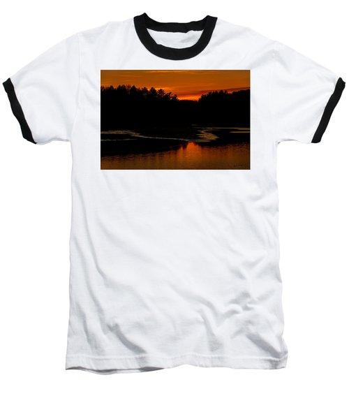Presumpscot Sunset No.101 Baseball T-Shirt