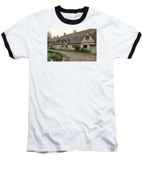 Pretty Cottages All In A Row Baseball T-Shirt