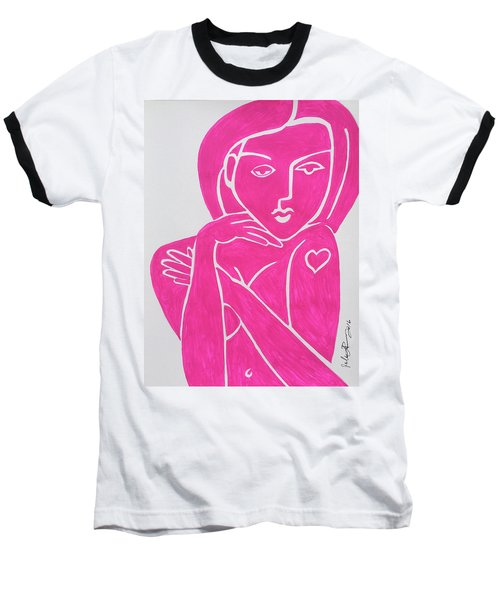 Pretty In Pink Tattoo Girl Poster Print  Baseball T-Shirt