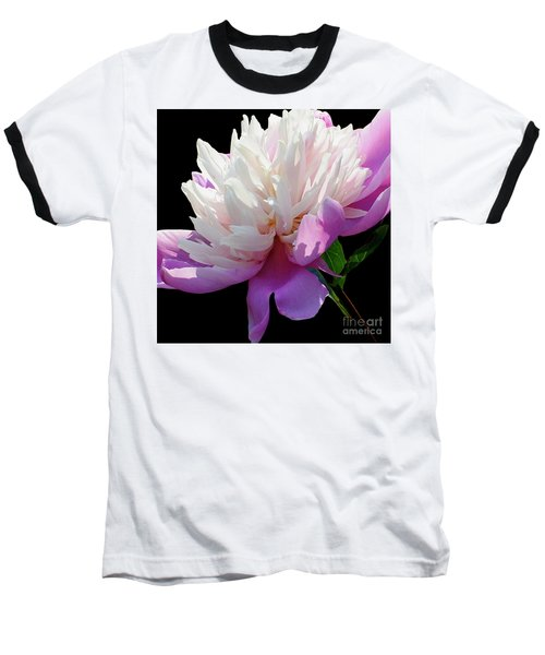Pretty Pink Peony Flower Wall Art Baseball T-Shirt