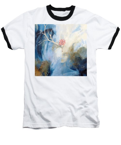 Baseball T-Shirt featuring the painting Priestess by Dina Dargo