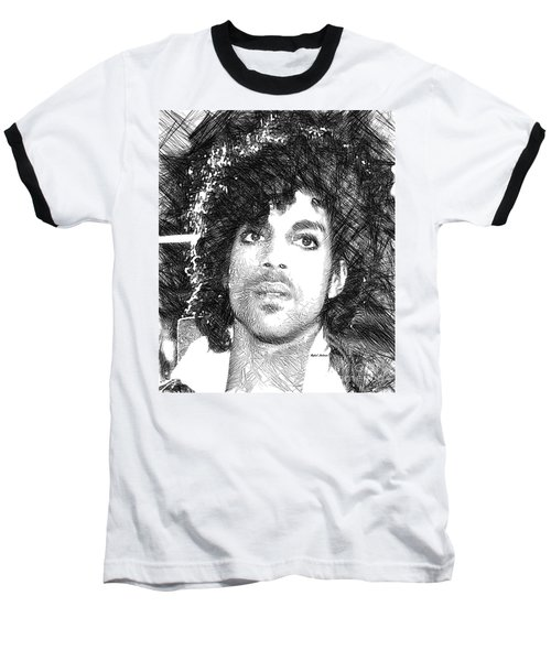 Prince - Tribute Sketch In Black And White 3 Baseball T-Shirt