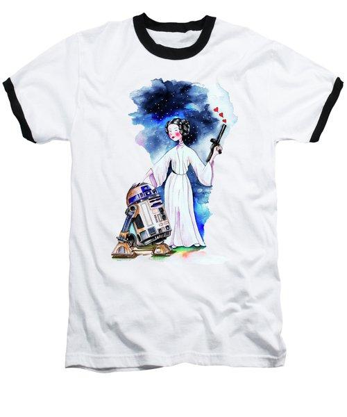 Princess Leia Illustration Baseball T-Shirt by Isabel Salvador
