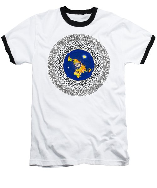 Psalm 37 Flat Earth Baseball T-Shirt