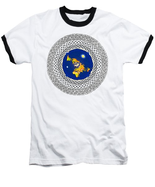 Psalm 37 Flat Earth Baseball T-Shirt