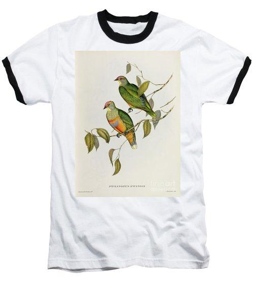 Ptilinopus Ewingii Baseball T-Shirt by John Gould