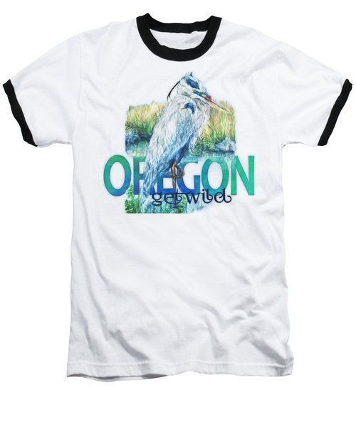 Puddletown Great Blue Heron Baseball T-Shirt