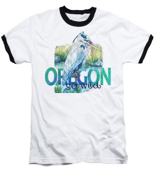 Puddletown Great Blue Heron Baseball T-Shirt