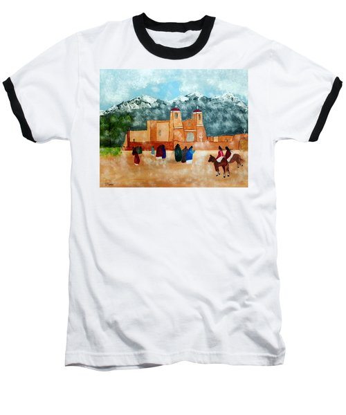 Baseball T-Shirt featuring the photograph Pueblo Church by Joseph Frank Baraba