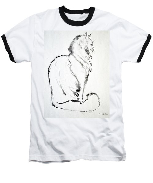 Baseball T-Shirt featuring the drawing Puff by Joan Hartenstein