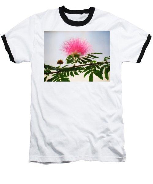 Puff Of Pink - Mimosa Flower Baseball T-Shirt