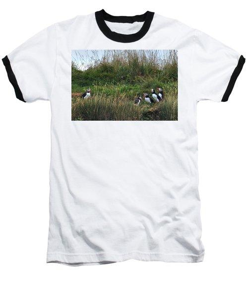 Puffins - Iceland Baseball T-Shirt