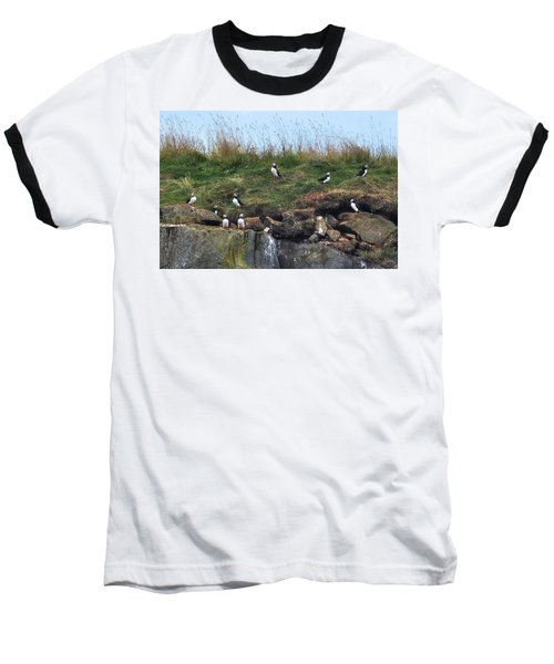 Puffins In Iceland Baseball T-Shirt