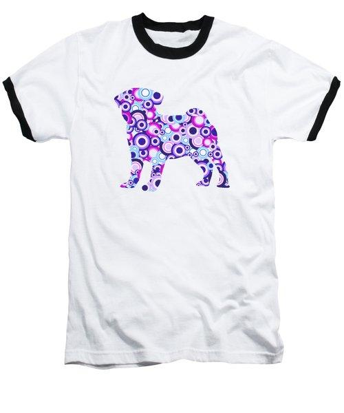 Pug - Animal Art Baseball T-Shirt