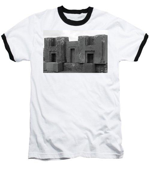 Puma Punku H Blocks, Bolivia Baseball T-Shirt