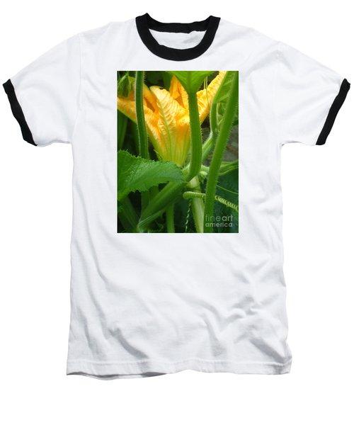 Baseball T-Shirt featuring the photograph Pumpkin Blossom by Christina Verdgeline