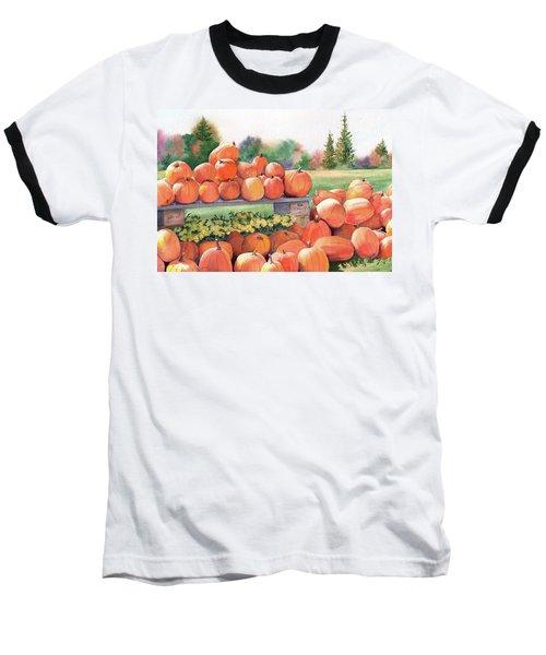 Pumpkins For Sale Baseball T-Shirt by Vikki Bouffard