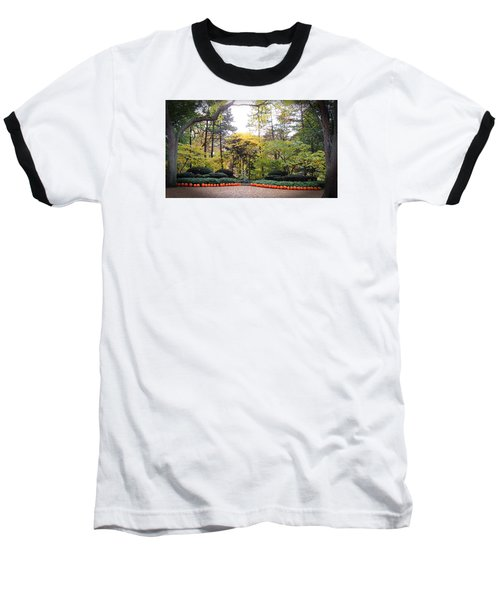 Baseball T-Shirt featuring the photograph Pumpkins In A Row by Teresa Schomig